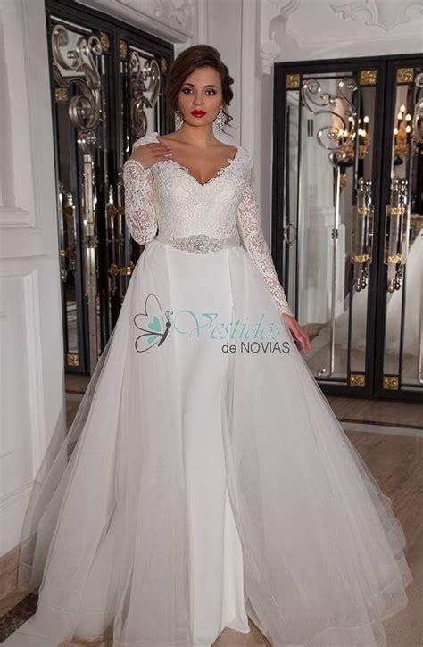 imagenes vestidos de novia escote v bruzual vestido de novia con cola desmontable 2017