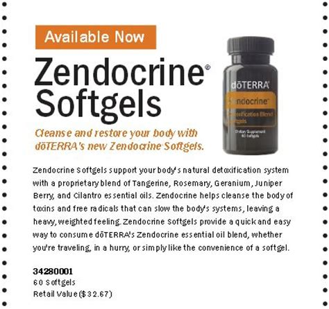 Doterra Endocrine Detox Blend Soft Gel zendocrine softgels new in may from doterra detox your