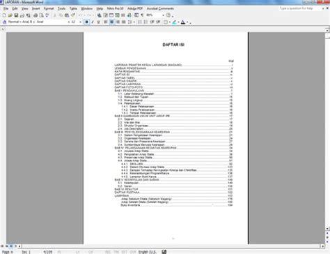 cara membuat daftar isi di word 2003 secara otomatis cara membuat daftar isi otomatis dengan ms word 2003