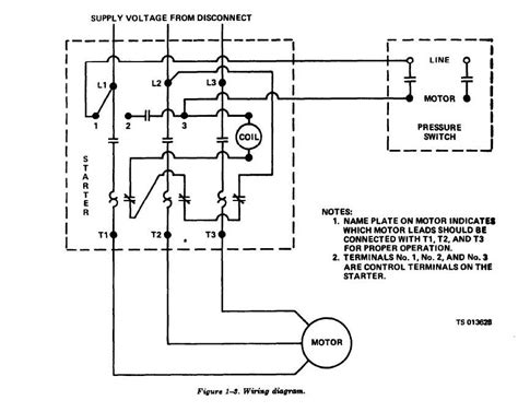 air compressor motor starter wiring diagram wiring