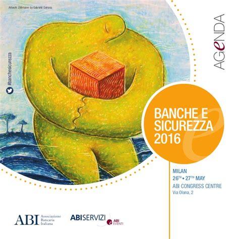 sicurezza banche banche e sicurezza 2016 agenda