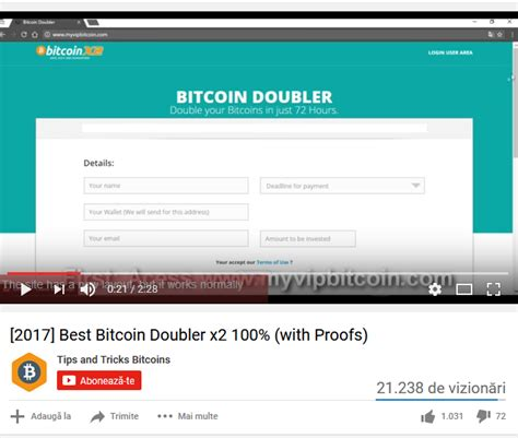 bitcoin doubler 2017 best bitcoin doubler x2 100 with proofs scam