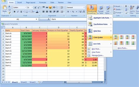 format excel by color excel conditional formatting colour scale formula excel