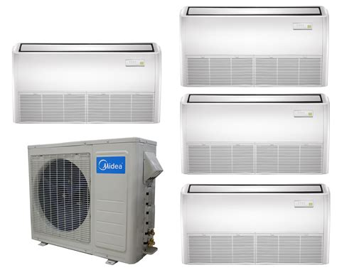 ductless mini split cassette midea dual zone 12k ceiling cassette mini split heat