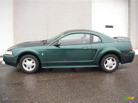 2000 ford mustang v6 green metallic 2000 ford mustang v6 coupe exterior
