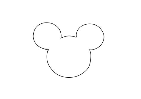 imgs for gt mickey mouse head silhouette printable
