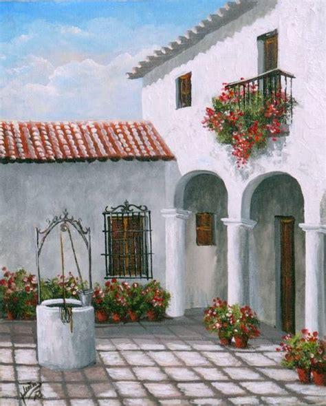 pinturas de patios andaluces patio andaluz juan requena leyva artelista
