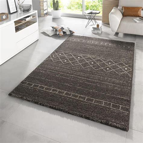 teppich grau mint design hochflor teppich shade taupe braun grau teppiche
