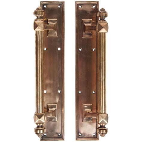 art deco pulls grand original art deco polished brass door pulls at 1stdibs