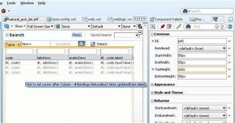 java layout stretch beginning java soa development layout tips adf faces