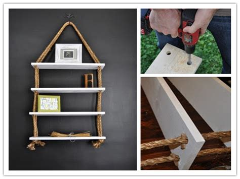 how to make rope board shelf step by step diy tutorial
