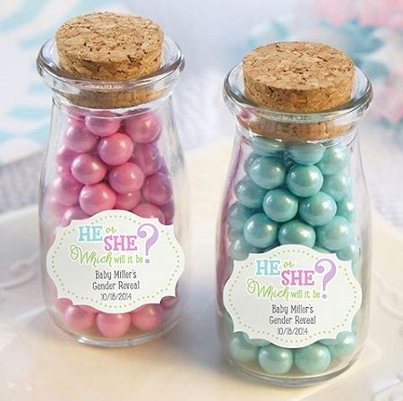 Baby Shower Favors Jars by Gender Reveal Personalized Milk Jars Baby Shower Favors