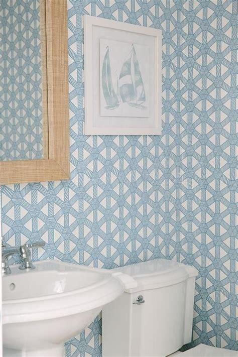 meg braff sasa robins egg blue wallpaper powder room
