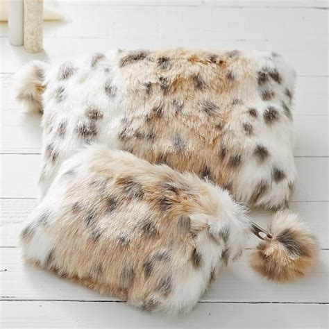 snow leopard faux fur comforter faux fur snow leopard beauty pouches and set pbteen