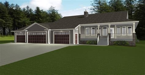 house plans with 3 car garage 4 ranch style house