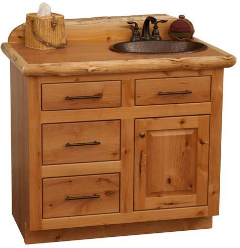 Knotty Alder Bathroom Vanity Rustic Alder Bathroom Vanity Offset Sink With Drawers