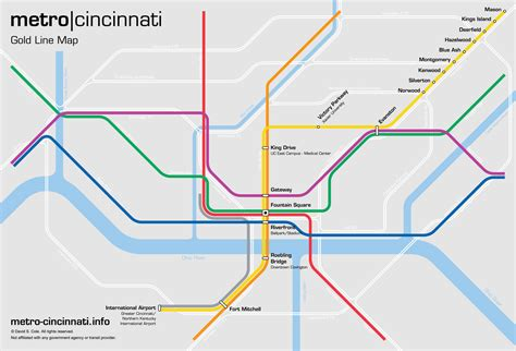 metro gold line map metro cincinnati gold line