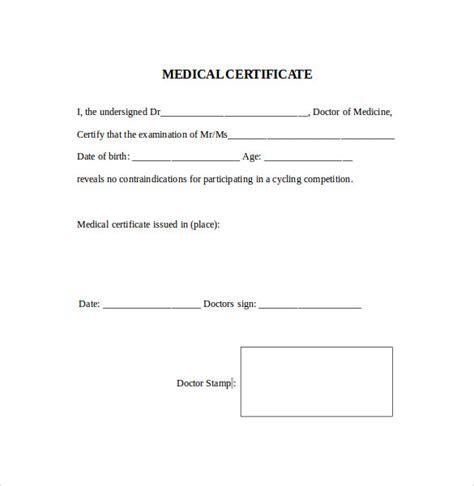 fake medical certificate template download doctor certificate sample
