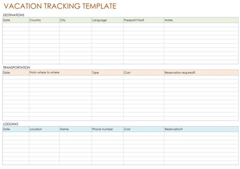 vacation template 5 best vacation tracking templates to track your vacations