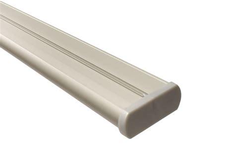 gardinenschiene alu 1 laufig alu gardinenschiene in alu silber 3 l 228 ufig mit deckentr 228 ger