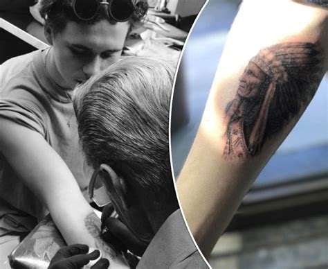 ultimate tattoo instagram brooklyn beckham copies dad david with new tattoo daily star