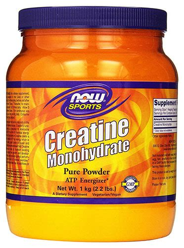creatine foods now foods creatine monohydrate powder review