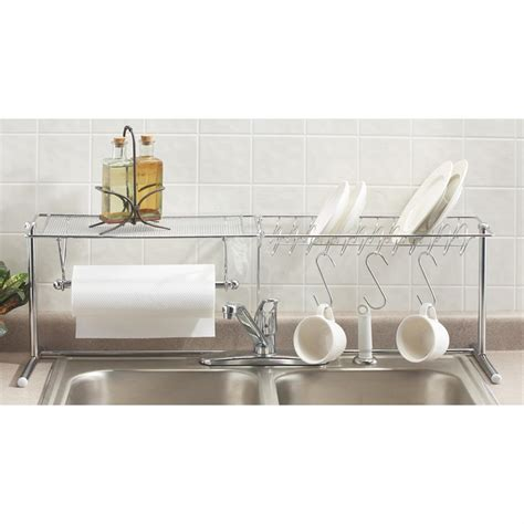 kitchen sink organiser chrome over the sink organizer 112255 accessories at