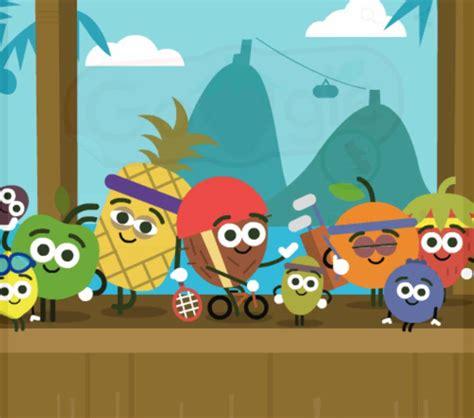 doodle jugar gratis minijuegos juega en tu m 243 vil a las quot fruta quot olimpiadas de