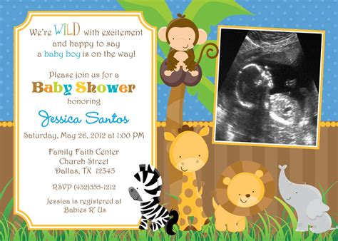 Safari Baby Shower Invitations by Safari Jungle Animals Baby Shower Invitation By Jcbabycakes