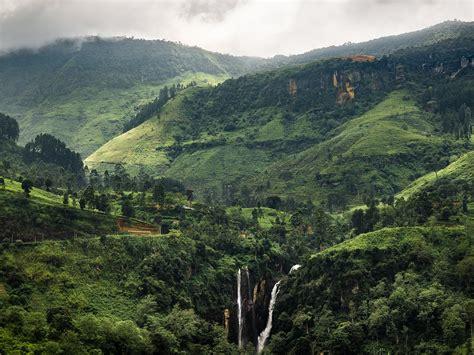 papeis de parede linda paisagem tropical montanhas verdes