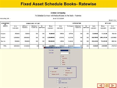 fixed asset schedule template fixed assets management software