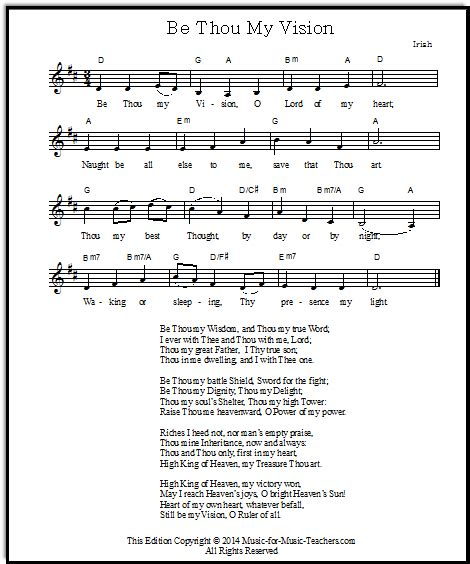 be thou my visio be thou my vision hymn 3 arrangements in 5 free