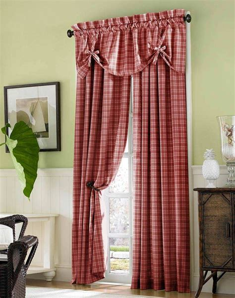 Plaid Dining Room Curtains 16 Best Images About Primitive Curtains On