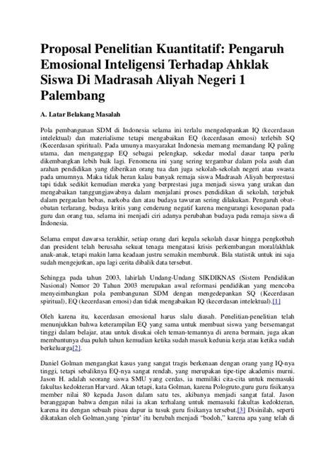 Judul Proposal Tesis Manajemen - CONTOH PROPOSAL BAHASA