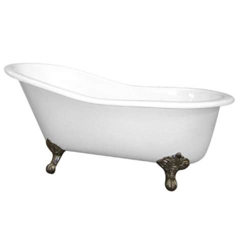 small clawfoot bathtub 61 quot small cast iron white slipper clawfoot bathtub with