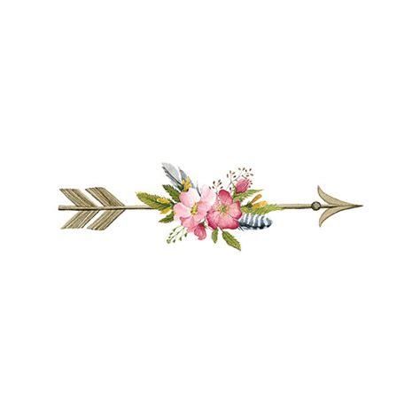 floral arrow tattoo pattern tattoo temporary tattoo wrist