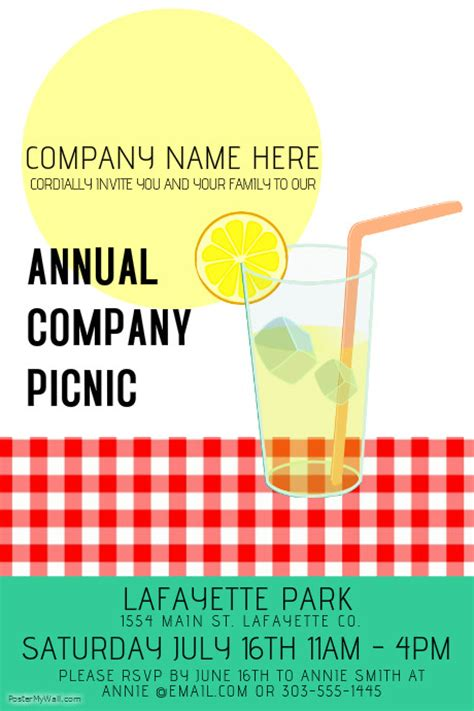 Company Picnic Giveaway Ideas - company picnic template postermywall