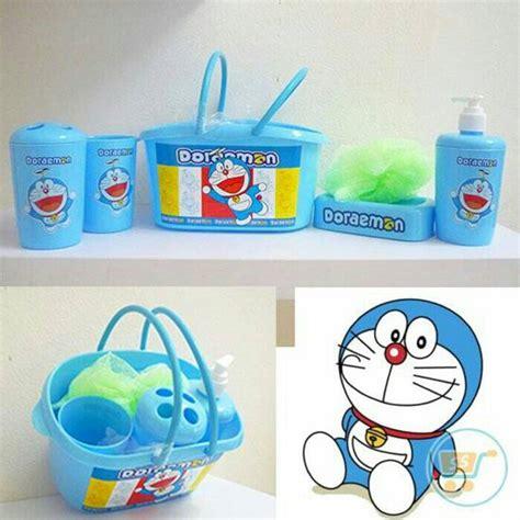 Shower Kamar Mandi 9754 Doraemon jual keranjang mandi bath set anak karakter milooshop