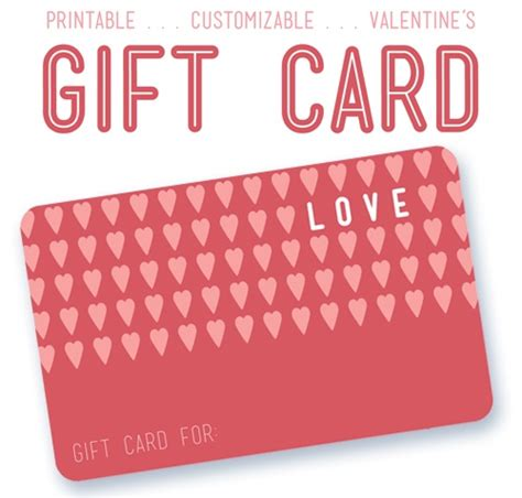 printable valentine gift cards 22 best images about gift certificate printables on