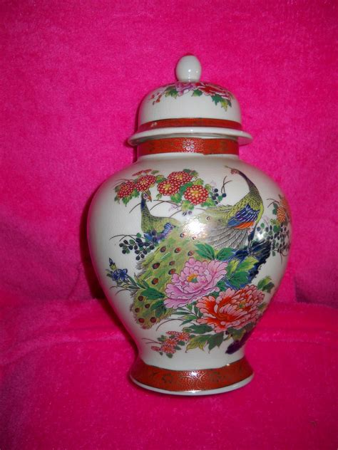 satsuma japan vase urn peacock floral and 50 similar items