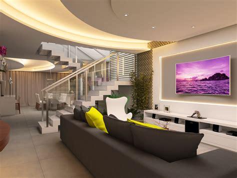 casa de interiores projeto decora 231 227 o design interiores casa sobrado alto padr 227 o