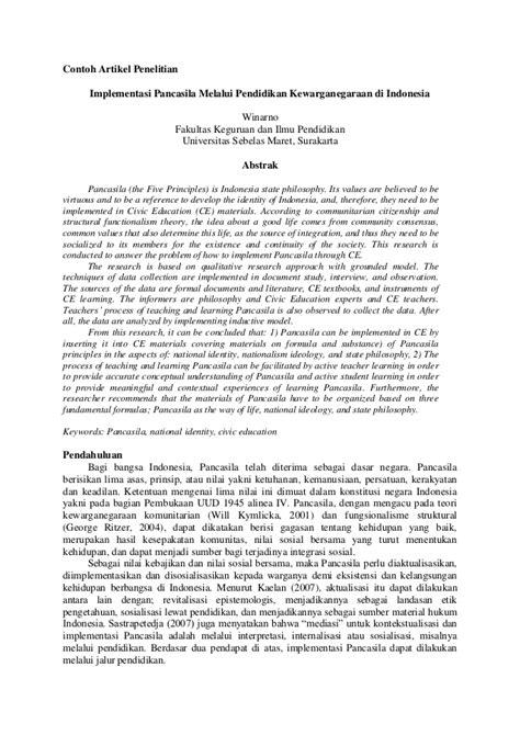 format penulisan resume jurnal ilmiah contoh artikel penelitian