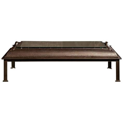 Cast Iron Coffee Table Cast Iron Industrial Coffee Table Made From An Boiler Room Door For Sale At 1stdibs