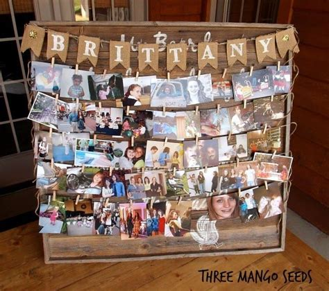 picture board ideas three mango seeds photo display board senior table