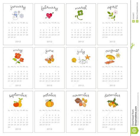 decorative calendar template decorative monthly calendars stock vector image 19104877