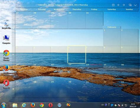 Desktop Calendar Windows Freeware Desktop Calendar Transparent Side Xp