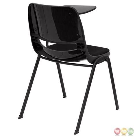 Padded Black Ergonomic Shell Chair With Right Handed padded black ergonomic shell chair with left handed flip up tablet arm rut eo1 01 pad ltab gg