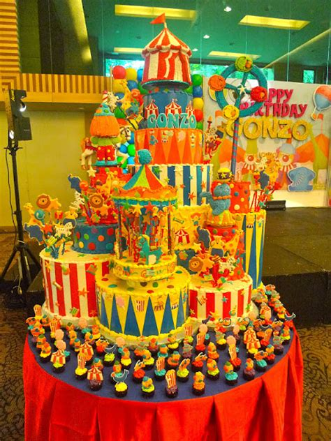 carnival themed cakes nikki s nurturance a towering carnival cake and custom