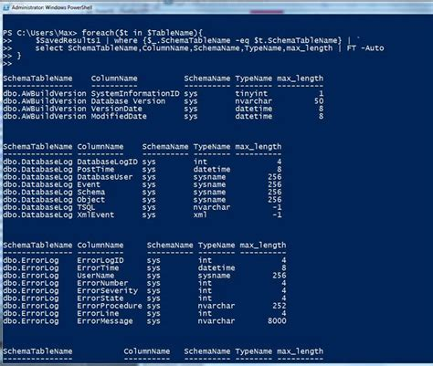 powershell format list csv sql powershell list your db table columns information