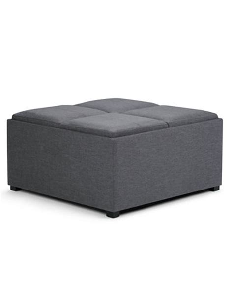 avalon fabric coffee table storage ottoman direct ship
